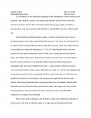 Macbeth Ruthless Essay	period 2 and 3