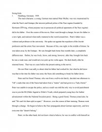 swing kids essay zoom