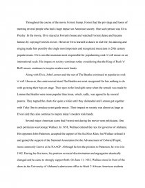 forrest gump famous people and social issues essay zoom