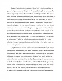 essay on deviance love my
