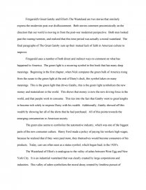 the great gatsby compared to the wasteland essay zoom