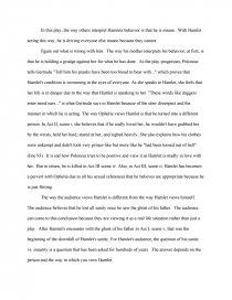 hamlets sanity vs insanity essay