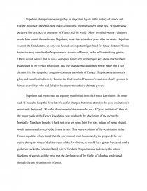 Political Science Essays Essay Preview Napoleon Bonaparte  Villain Or Hero Classification Essay Thesis Statement also Best Business School Essays Napoleon Bonaparte  Villain Or Hero  Essay Old English Essay