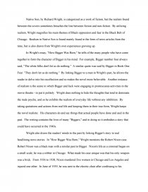 wright s use of realism in native son essay zoom zoom