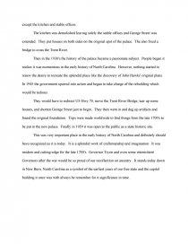 tryon palace essay