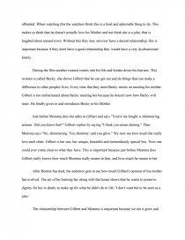 relationship essay gilbert grape essay zoom zoom zoom