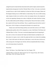 Process Essay Thesis Zoom Zoom Zoom Example Of An Essay Paper also Sample Essays For High School Self Control In The Odyssey And O Brother Where Art Thou  Essay How To Start A Business Essay