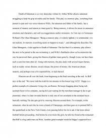 death of a salesman essay outline