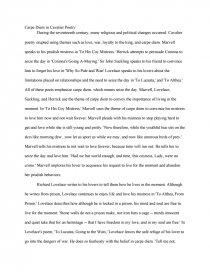 carpe diem in cavalier poetry essay zoom zoom zoom