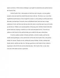 fourth of july descriptive essay