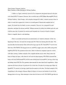 Research Papers Examples Essays Zoom Zoom Zoom English Literature Essay also Sample Of Proposal Essay Abner Snopes Character Analysis  Main Character In Barn Burning By  Essay English Example