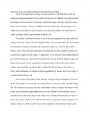 Admission Essay on Comparison Between High School and College