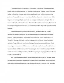 good will hunting case essay similar essays good will hunting