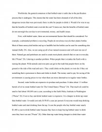 bottled water essay zoom zoom
