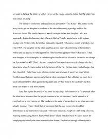 conformity and rebellion essay