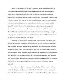 Whats Eating Gilbert Grape Essay  Essay Essay Preview Whats Eating Gilbert Grape Essay
