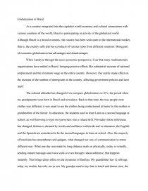 globalization in essay zoom