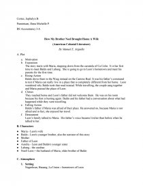 How My Brother Noel Brought Home a Wife - Study Guide