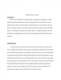 ethical dilemma abortion essay zoom