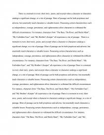 rites of passage essay zoom zoom